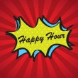 Happy hour — Vector de stock #18996045