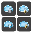Cloud Securiry - Stock Vector