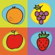 Fruits vector — Stockvectorbeeld
