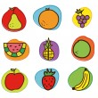 Royalty-Free Stock Imagen vectorial: Fruits vector