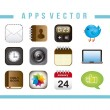 Apps vector — Stockvectorbeeld