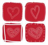 Aşk kartı — Stok Vektör