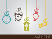 Iconos de reloj — Vector de stock