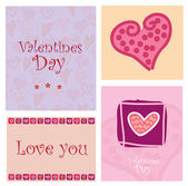 Love Card — Vettoriale Stock