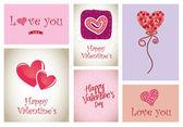 Iconos de amor — Vector de stock