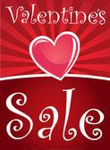 Valentines sale — Stock Vector