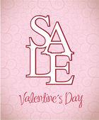 Sale Valentines day — Stock Vector