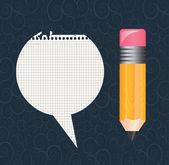 Bleistift und papier — Stockvektor