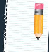 Paper and pencil — ストックベクタ