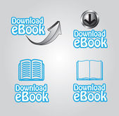 Ebook downloaden — Stockvector