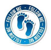 Follow me — Stock Vector