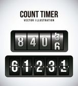Count timer — Stock Vector
