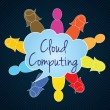 Cloud Computing - Stock vektor