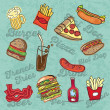 Fast Food Industry — Stock Vector