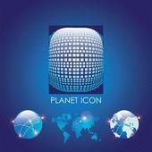 Planet-symbole — Stockvektor