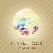 планета значки — Cтоковый вектор