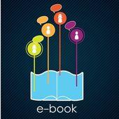 электронная книга загрузки — Cтоковый вектор