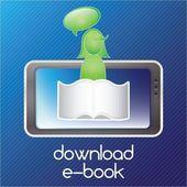 Download ebook — ストックベクタ