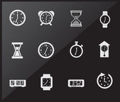 Time icons — Stok Vektör
