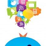 iletişim simgeler — Stok Vektör