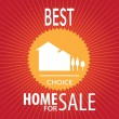 House sale vector — Vector de stock #19530235