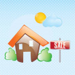 House sale vector — Stockvektor