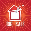 House sale vector — Vector de stock