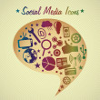 Social Media — Stockvectorbeeld