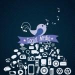 Social Media — Stock Vector #19537415