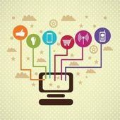 Mezzi di comunicazione sociale — Vettoriale Stock