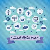 Social media — Stockvektor