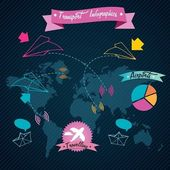Transport Infographics — Stock Vector