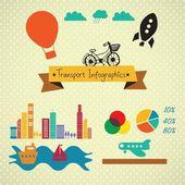 Infografía de transporte — Vector de stock