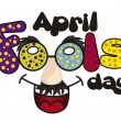 April fools day — Vector de stock #19643821