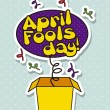 Stock Vector: April fools day