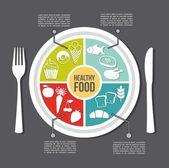 Zdravé jídlo — Stock vektor