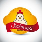 Chicken label — Stock Vector