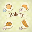 Bakery Icons — Vector de stock