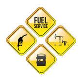 Fuel Service — Stock Vector