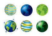 ícones do mundo — Vetor de Stock