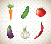 Vegetables — Stock Vector