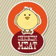 Chicken label - Stock Vector
