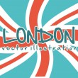 Flag london — Stock Vector