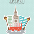 London city — Stock Vector