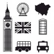 Stock Vector: London elements