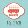Bus london — Stock Vector