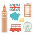 London elements — Stock Vector
