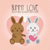 Bunny love — Stock Vector