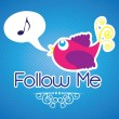 Follow me and follow us — Imagen vectorial