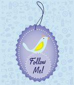 Follow me and follow us — Stock Vector